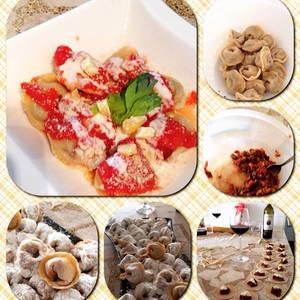Tortellinis Rellenos de Ragú de Roast Beef, Hongos y Queso Guayanés