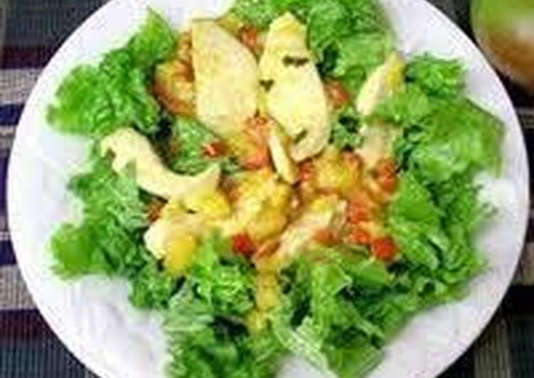De y con lechuga pollo mango receta