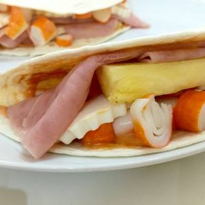 Sándwich en pan de fajita con pavo un poco picante