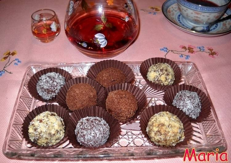 Trufas de chocolate variadas