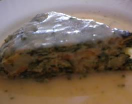 Tortilla de espinaca y apio