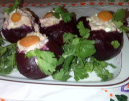 Betabeles rellenos