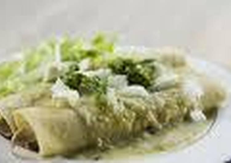 Enchiladas verdes mexicanas