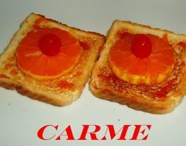 Canapés de mandarina