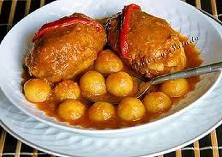 Patatas Rellenas De Carne Con Salsa Receta De Tatina Cookpad