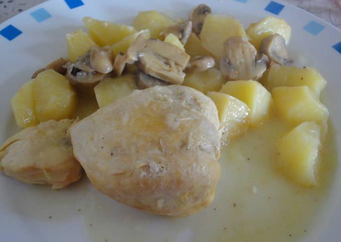 Pechugas De Pollo En Salsa De Vino Y Cebolla Receta De Rebe Cookpad