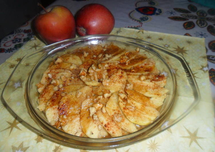Microondas en hacer como cocidas manzanas