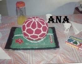 Torta decorada pelota de futbol