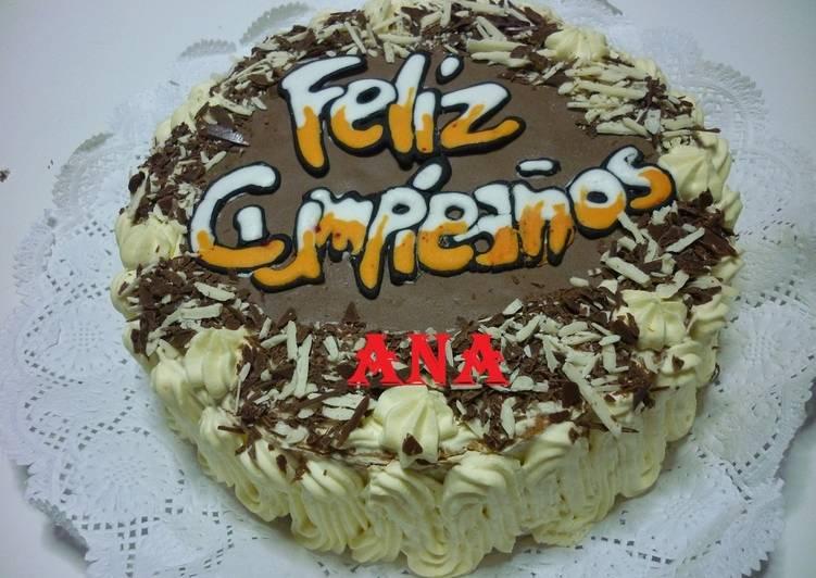 Torta Decorada Con Crema Para Cumpleaños Receta De Gringa Cookpad