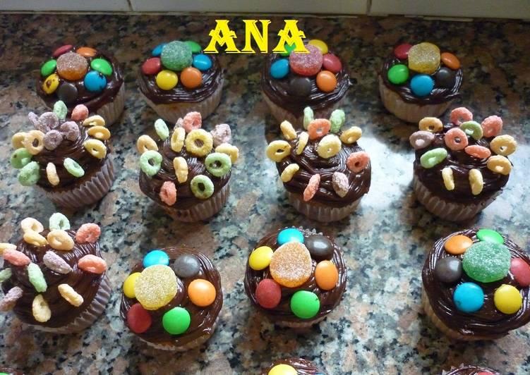 Cupcakes Decorados Para Cumpleaños Infantiles Receta De