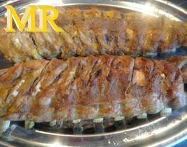 Costilla de cerdo con mostaza y miel
