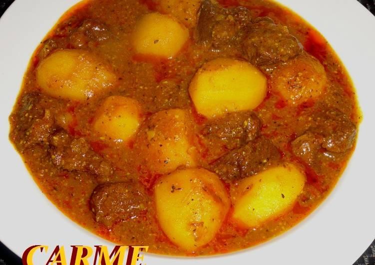 Patatas Guisadas Con Carne De Ternera Receta De Carme