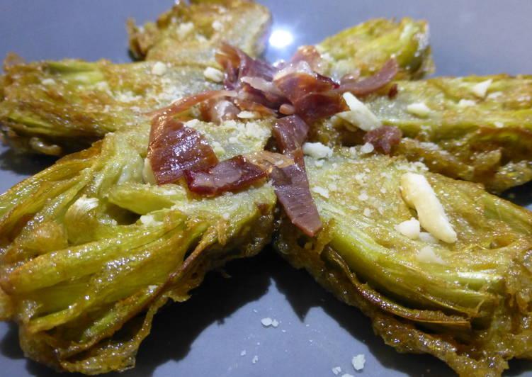 Alcachofas Rebozadas Con Almendra Y Jamón Receta De