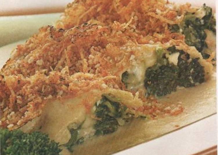 Crepas de queso y espinacas