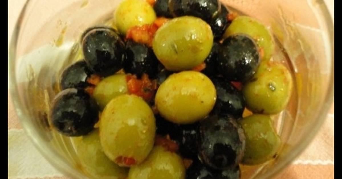 receta aliño de aceitunas chupadedos