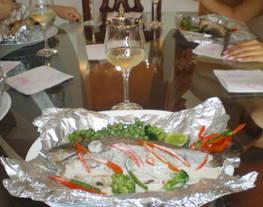 Trucha Rellena de queso ahumado y finas Hierbas