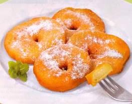 Buñuelos de manzana o banana