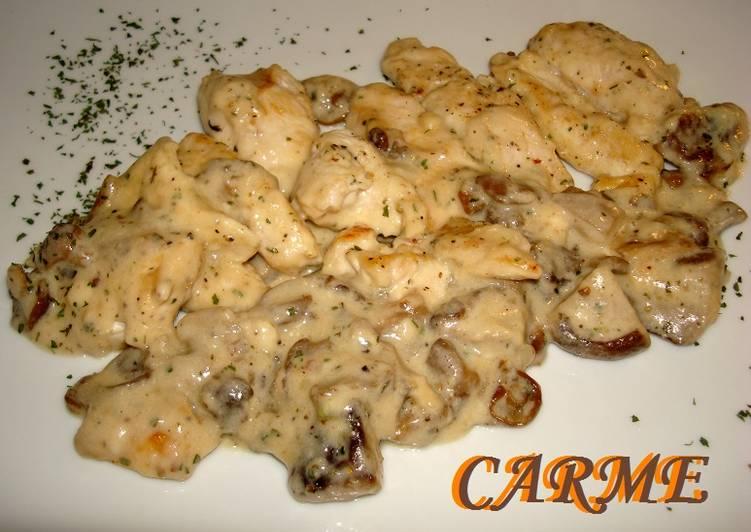 Pollo Con Setas En Salsa Bechamel Receta De Carme Castillo