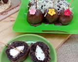 Oreo Milk Pop Ball Filling Marsmallow langkah memasak 3 foto