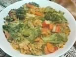 Foto del paso 5 de la receta Menestra de coliflor, brócoli y zanahorias con espirales de lentjejas