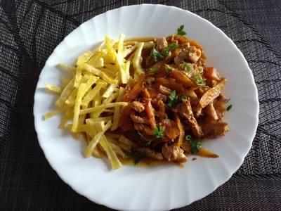 Pechugas de pollo con vermut