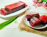 Kue Lapis Tepung Tapioka Black Pink Termudah langkah memasak 7 foto