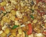 Ayam Cincang campur kentang langkah memasak 5 foto