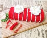 Bolu gulung merah putih langkah memasak 9 foto