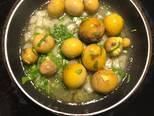 Cơm hạt quinoa- trứng gà non sốt bơ tỏi bước làm 4 hình