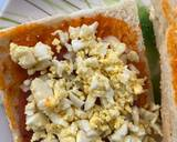 Sandwich panggang saos spaghetti langkah memasak 4 foto