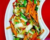 Sawi putih&wortel(cah ikan asin peda) langkah memasak 2 foto