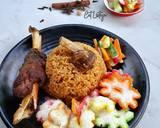 Nasi Kebuli Kambing + Acar langkah memasak 9 foto