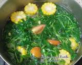 Bening Selada Air & Jagung langkah memasak 4 foto