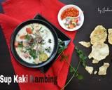 SUP KAKI KAMBING Khas Jakarta langkah memasak 5 foto