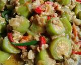 Tumis terong hijau spesialby Sii Trias langkah memasak 3 foto