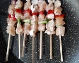 Chicken Yakitori (sate ayam jepang) langkah memasak 4 foto