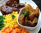 Beef steak and cheese potato wedges #PR_recookamerikaamerhoma langkah memasak 7 foto