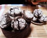 Almond crinkle cookies langkah memasak 12 foto