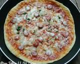 Pizza teflon (dough tanpa susu) langkah memasak 5 foto