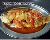 Ikan kakap thiamson langkah memasak 4 foto
