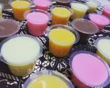 Colourful Silky Pudding langkah memasak 7 foto