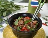 PAD GRA PROW (Thai Basil Beef) langkah memasak 4 foto