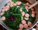 Sayur Bayam Bicolor Sosis langkah memasak 2 foto