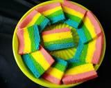 """""""Rainbow Cake"""" langkah memasak 6 foto"""