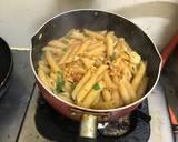 Mix Egg-Seafood Penne Pasta langkah memasak 8 foto