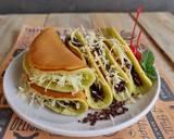 Pancake Pandan Lipat langkah memasak 6 foto