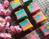 Cheese Unicorn Ogura Cake #cookpadpeduli #kankerpayudara langkah memasak 12 foto