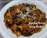 Japchae Korea mantap langkah memasak 8 foto