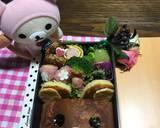 Hot cake rilakkuma bento (bekal anak) langkah memasak 8 foto