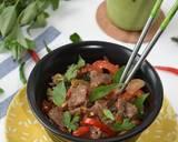 PAD GRA PROW (Thai Basil Beef) langkah memasak 5 foto